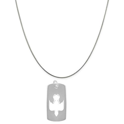 (Raposa Elegance Sterling Silver Cut Out Dove Tag Charm on a Sterling Silver 20