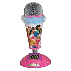 High School Musical Microphone Alarm Clock Real Working Mic Blue Trim