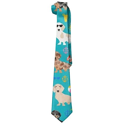 Dachshund Dog Neckties Fashion Silk Tie Sets For Men for sale  Delivered anywhere in USA