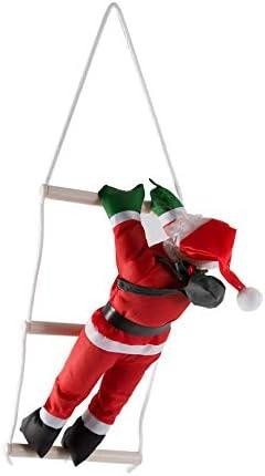 Pudincoco Papá Noel Escaleras de Escalada Decoración del árbol de Navidad Adorno de año Nuevo Papá Noel Donaciones para Regalos Colgantes de Gran tamaño con Escalera: Amazon.es: Hogar