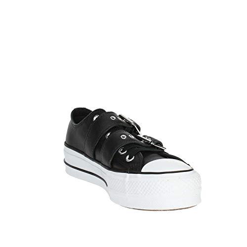 Chuck black Noir Sneakers Converse white Basses black Ox Ctas Femme Taylor Lift Buckle 001 4aHHwqAdP