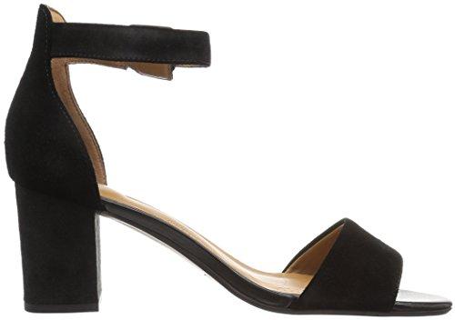 Clarks Womens Deva Mae Dress Sandalo Nero In Pelle Scamosciata