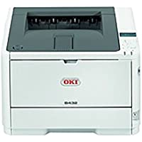 Oki B432dn LED Printer - Monochrome - 1200 x 1200 dpi Print - Plain Paper Print - Desktop - 42 ppm Mono Print - 350 sheets Standard Input Capacity - 80000 Duty Cycle - (Certified Refurbished)