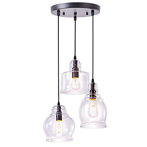 Red Blown Glass Pendant Light in US - 4