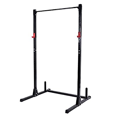 Gymax Exercise Fitness Power Cage Rack Heavy Duty Weight Squat Stand Power Racks for Home Gym