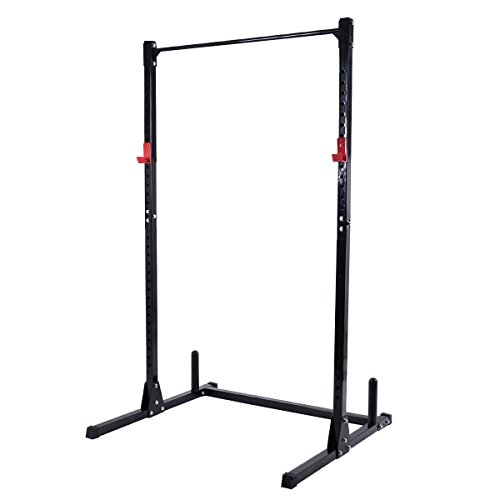 Gymax Exercise Fitness Power Cage Rack Heavy Duty Weight Squat Stand Power Racks for Home Gym by Gymax