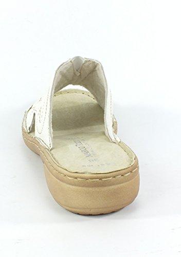 Marco Tozzi Mujeres Zapatos abiertos Da.-Pantolette white 2-2-27901-26/100