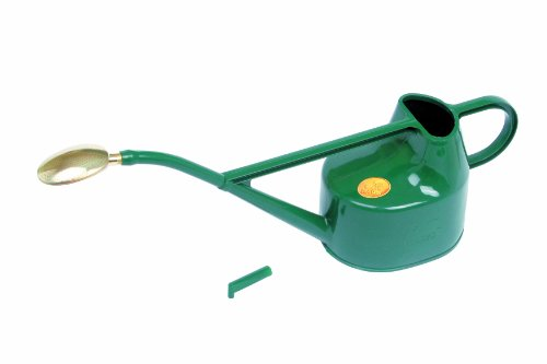 Bosmere Haws Deluxe Plastic Watering Can, 1.3-Gallon/5-Liter, Green ()