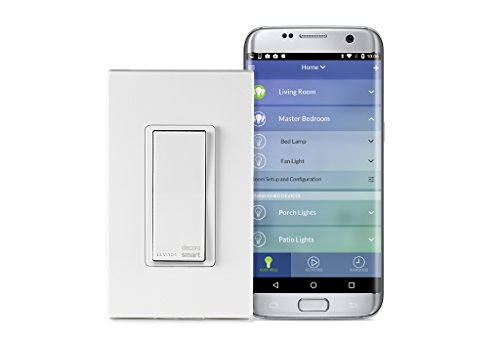 Leviton DW15S-1BZ Decora Smart Wi-Fi 15A Universal LED/Incandescent Switch, No Hub Required, Works with Amazon Alexa