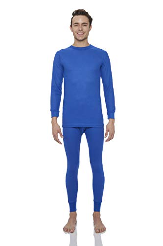 Blue Thermal Underwear - Rocky Men's Thermal 2pc Set Long John Underwear (XL, Royal Blue)
