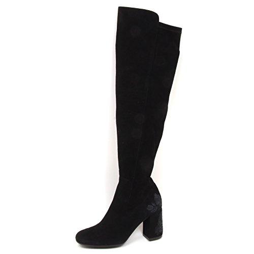 Stivale Stretch MALIPARMI E6502 Woman elasticizzato Black Donna Boot Nero Suede Shoe wq75AX7rn