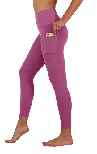 Yogalicious High Waist Ultra Soft Ankle Length Leggings with Pockets - Strawberry Nectar - Small
