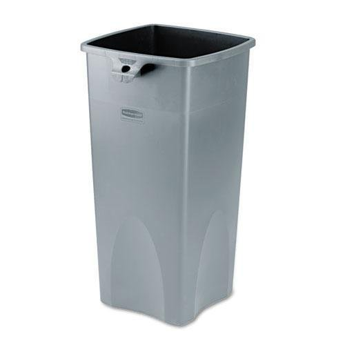 Rubbermaid Untouchable Square Waste Container, 23Gal, Gray Plastic (356988GY) ()