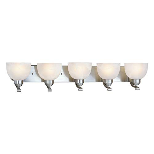 Minka Lavery Wall Light Fixtures 5425-84 Paradox Glass Bath Vanity Lighting, 5 Light, 500 Watts, -