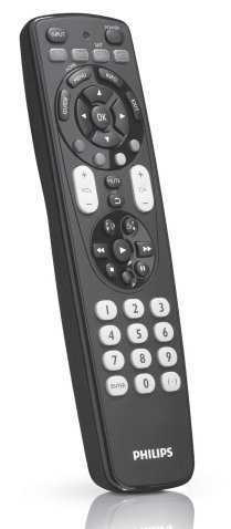 Philips SRP4004/27 Universal 4 In 1 Remote Control for TV,VCR,DVD,SAT with XXL and Fluorescent Glow Buttons by Portable & Gadgets