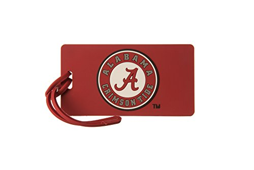 ALABAMA CRIMSON TIDE NCAA PVC LUGGAGE TAG (Tide Laptop Crimson Alabama Bag)