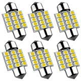 6Pcs Super Bright 31mm Festoon Led Bulb, 12-EX Chipsets 3175 LED, De3021 De3175 Fit for Interior Map Door Dome lights...
