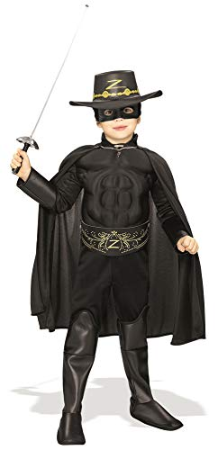 Rubie's Costume Zorro Deluxe Muscle Chest Child Costume, Toddler -