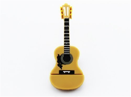 8GB 8G Cartoon Brown Guitar Shape Gift USB Flash Drive USB Flash Disk Pen Drive Memory Stick Pendrive by All Ideas (Image #1)