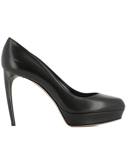 Femme Escarpins Noir 482166WHMU01000 McQueen Cuir Alexander PCw70qB