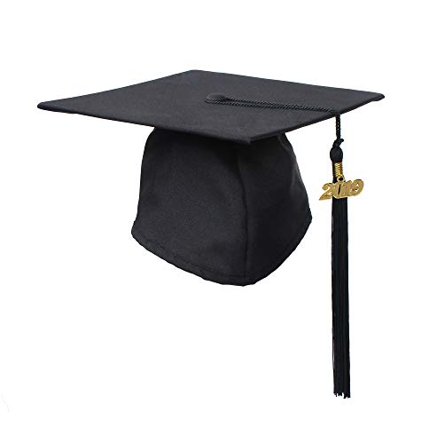 GraduationService Graduation Matte Cap With Tassel Year Charm 2018