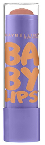 Maybelline New York Baby Lips Moisturizing Lip Balm, Peach Kiss, 0.15 Ounce
