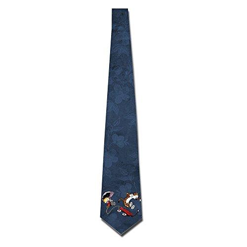 EUNICORN SG Calvin And Hobbes SKinny Tie Necktie