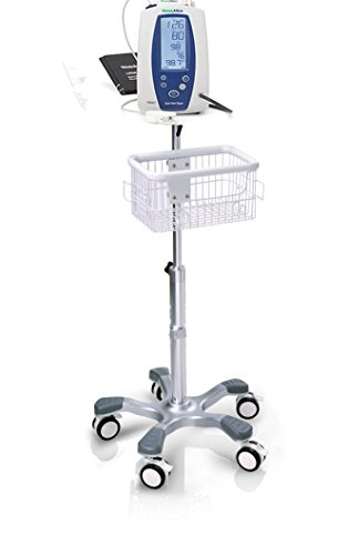Welch Allyn Mobile Stand with Basket for Spot Vital Signs LXi (Welch Allyn Stand Mobile)