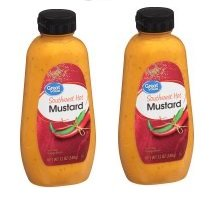 Great Value All Natural Southwest Spicy Mustard, 12 oz, 2 Packs by Great Value