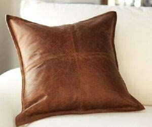 McWan Online Addiction Genuine Leather Pillow Cover