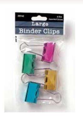 (Baumgartens Metallic Designer Binder Clips Large 4 Pack Assorted Colors (Pack of 12))