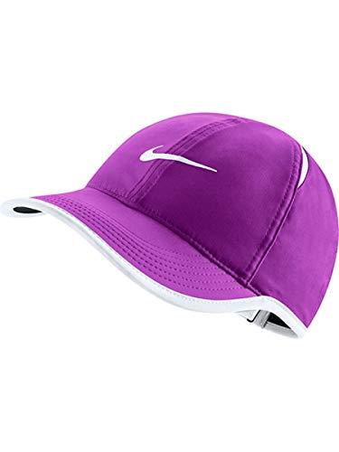 19363ff2 Nike Women's Featherlight Hat (Vivid Purple/Black/White, One Size) by