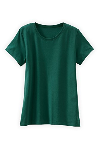 - Fair Indigo Fair Trade Organic Essential Relaxed Crew Neck Tee (XL, Clover Green)
