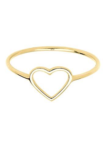 Elli Premium - Bague motif Coeur - Or jaune 9 cts - 0612950414