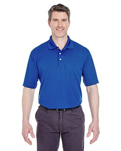 UltraClub Men's Stain Release Comfort Performance Polo Shirt, Cobalt, X Large