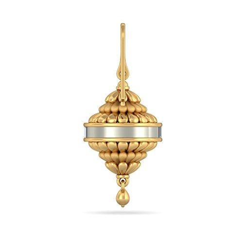 14K Or jaune 1.4CT TW Round-cut-diamond (IJ | SI) Pendants d'oreilles