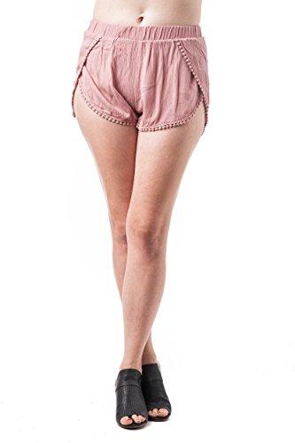 Khanomak - Pantalón corto deportivo - para mujer Malva Rosa