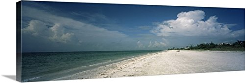 Canvas On Demand Premium Thick-Wrap Canvas Wall Art Print entitled Clouds over the beach, Lighthouse Beach, Sanibel Island, Fort Myers, Florida - Sanibel Myers Fort