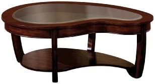 Furniture of America Byrnee Coffee Table, Dark Cherry