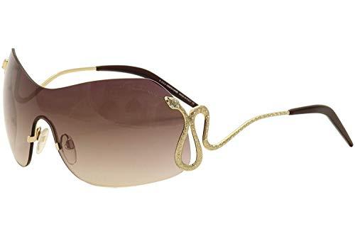 Roberto Cavalli Glasses - ROBERTO CAVALLI RC896S 28G - shiny rose gold / brown mirror Metal