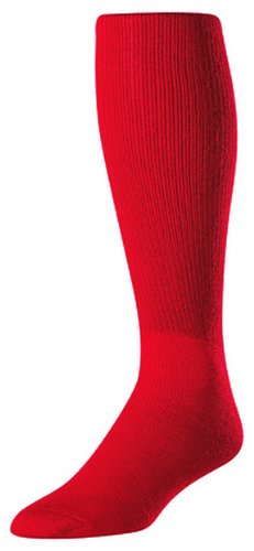 Twin City Youth All Sport Solid Color Tube Sock, Scarlet Small
