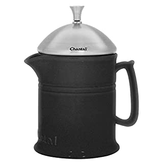 Chantal 92-FP16 KM Ceramic French Press with Stainless Steel Plunger & lid, 16 ounces, Matte Black