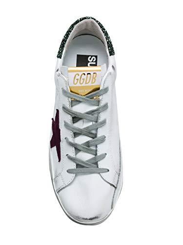 Blanc G33WS590H68 Cuir Femme Baskets Golden Goose qwBn6
