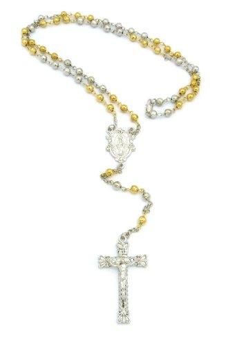 Jesus Piece Rosary Beads (New Virgin Mary & Cross/Jesus Piece &6mm/30