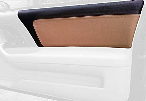 Medium Gray Leather-Black Thread RedlineGoods Sun Visor Covers Compatible with Chevrolet Camaro 1997-02