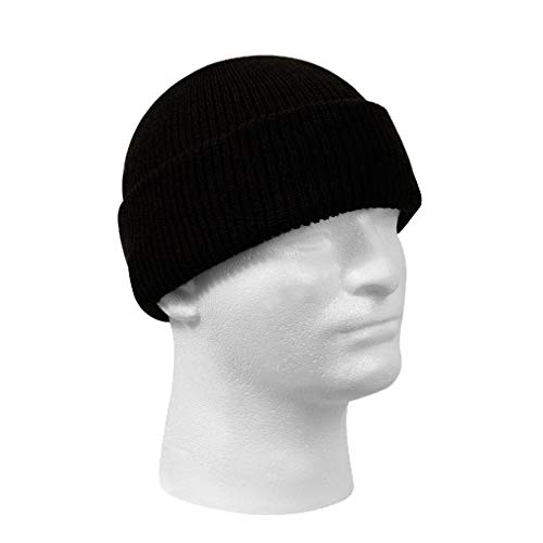 Camouflage Usa Made Fatigue Cap - New Genuine Black Winter Beanie Hat Wool Watch Cap USA Made