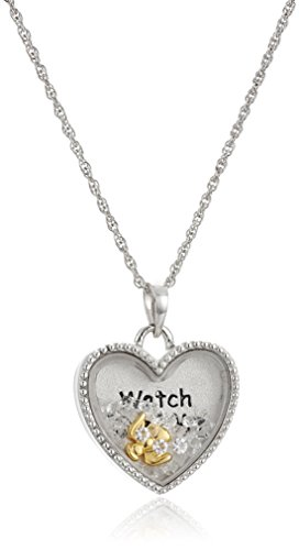 """Sterling Silver Floating Crystals Angel """"Watch Over Me"""" P..."""