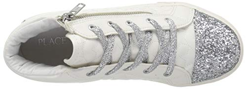 The Children's Place Girls' High Top Sneaker, White, TDDLR 7 Child US Toddler by The Children's Place (Image #8)