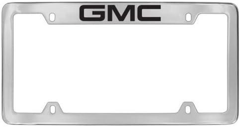GMC Denali Chrome Metal license Plate Frame Holder Top Engraved 4 Hole