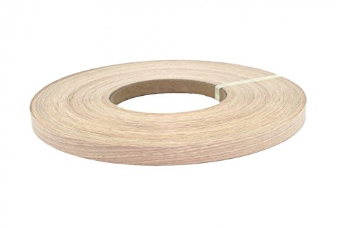 "White oak pre glued ( 5/8"" to 3""x250') wood veneer edge banding (3/4''x250') from WHITE OAK WOOD"